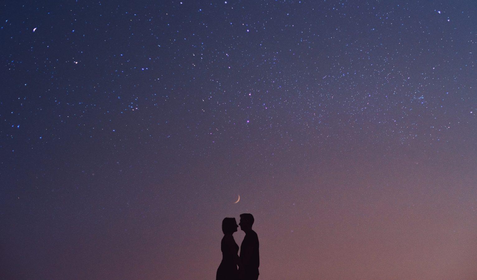 Cute Couple Starry Night