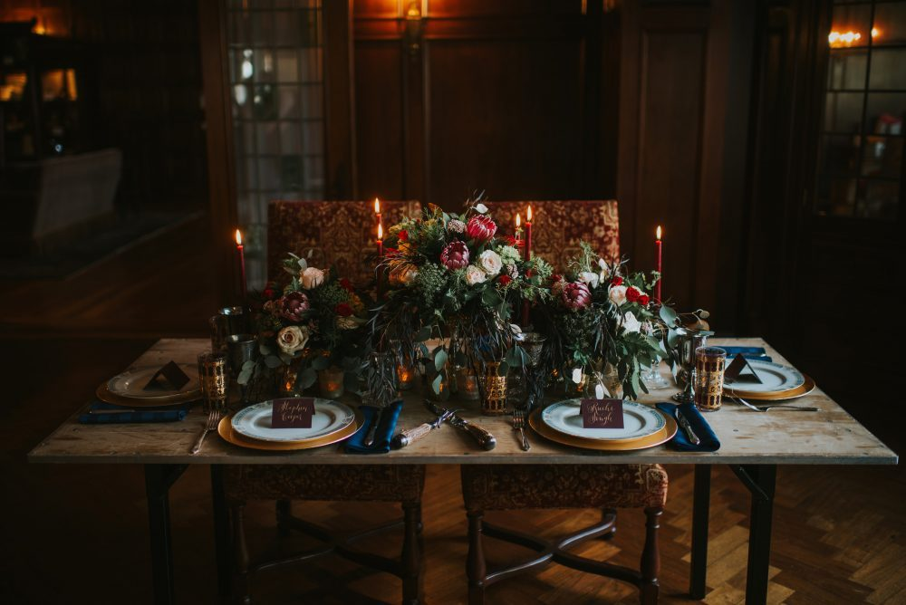 ornate wedding place setting