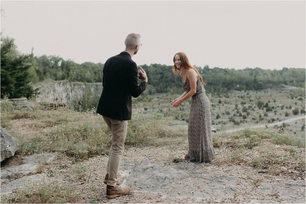Surprise Proposal at a Limestone Quarry in Indiana – Violet